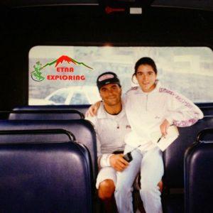 Io ed Alberto Tomba in visita sull'Etna