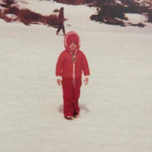 Io e la prima neve dell'Etna