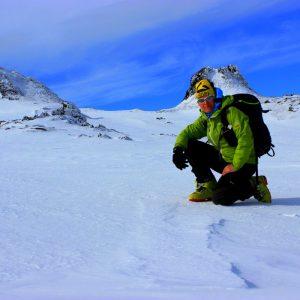 Sci alpinismo sull'Etna zona fratelli Pii,quota 2700Mt