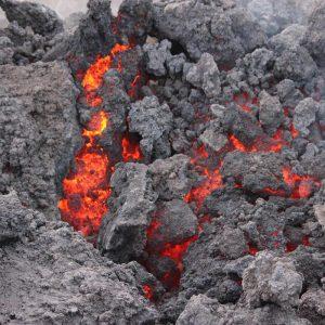 Etna Lava Incandescente